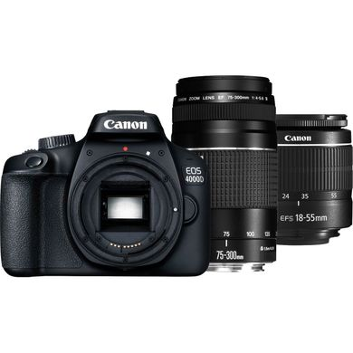 Canon EOS 4000D Kit 18-55mm + 75-300mm