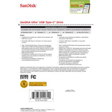 SanDisk Ultra USB Type-C 128GB (SDCZ450-128G-G46)