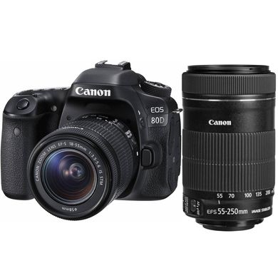Canon EOS 80D Kit 18-55mm + 55-250mm IS STM