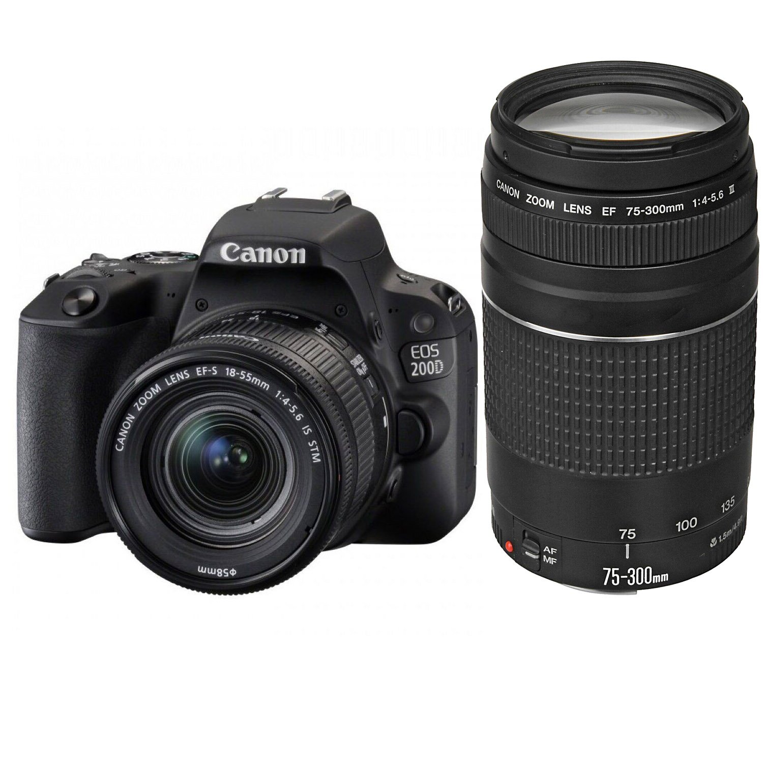 Canon EOS 200D Kit 18-55mm + 75-300mm