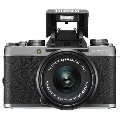 Fujifilm X-T100 kit 15-45mm (Dark Silver)