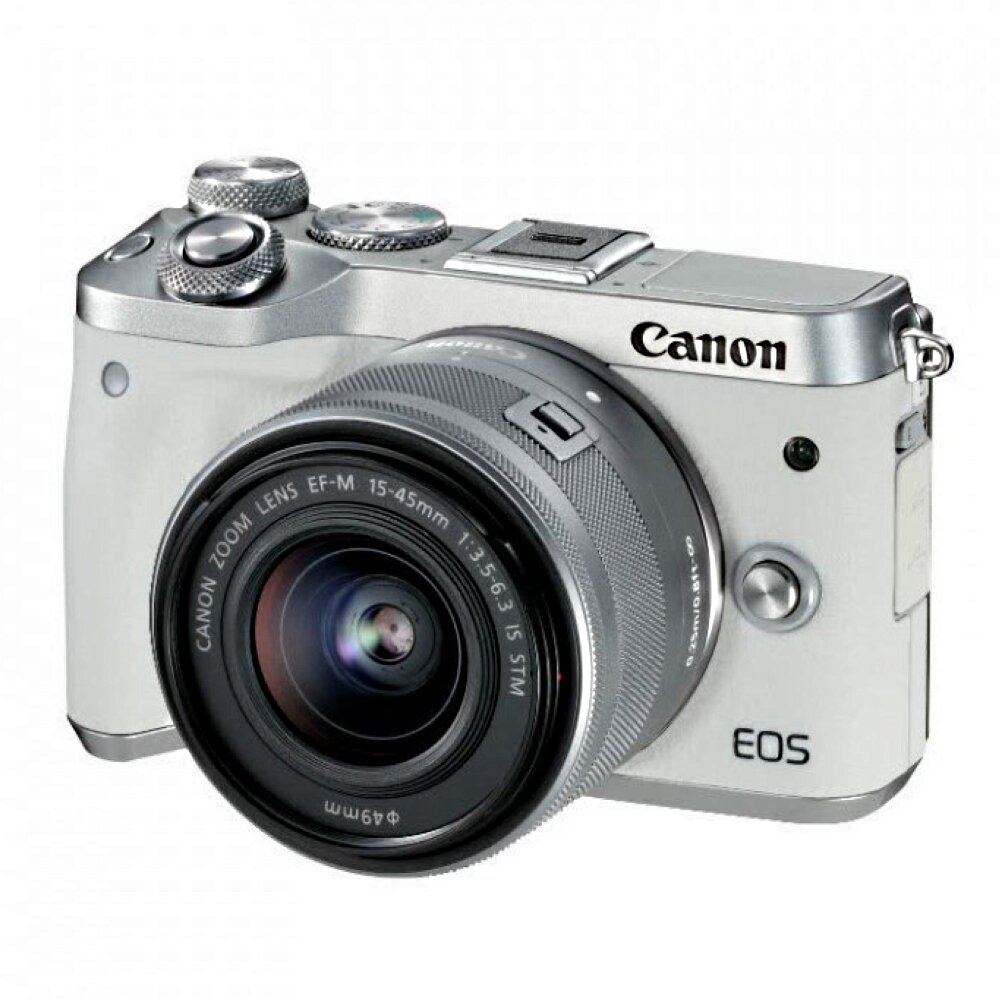 Canon EOS M6 Kit 15-45mm (White)