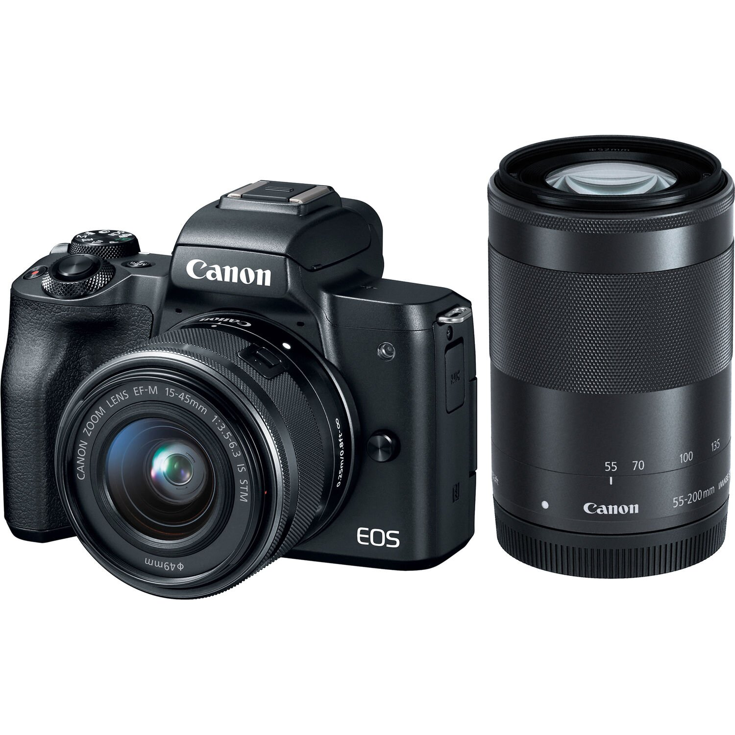 Canon EOS M50 Kit 15-45mm + 55-200mm IS STM