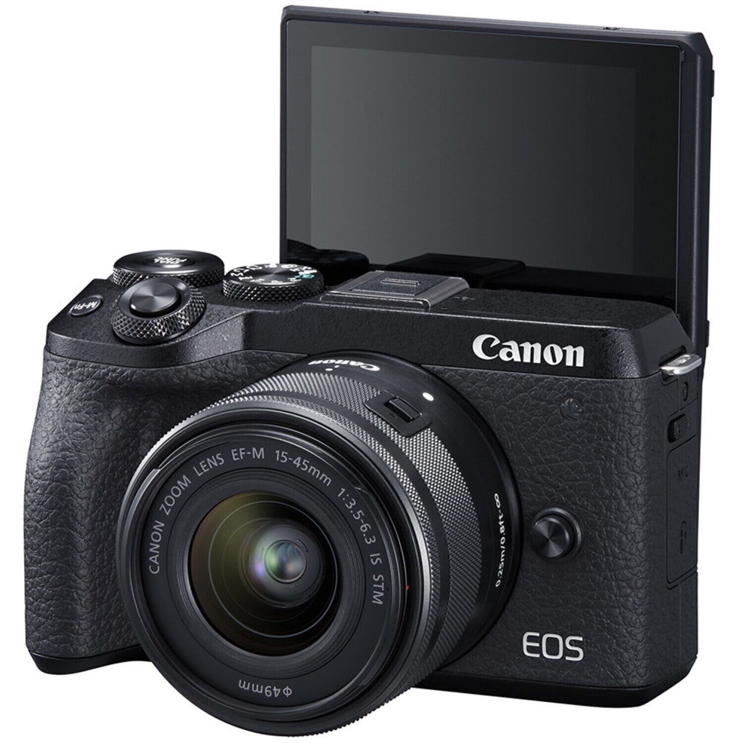 Canon EOS M6 Mark II Kit 15-45mm (Black) + видоискатель EVF-DC2